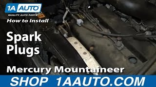 How to Replace Spark Plugs 01-08 Ford Escape