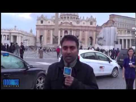 Pope's Conclave in Vatican ; News report on Indiavision by Anas