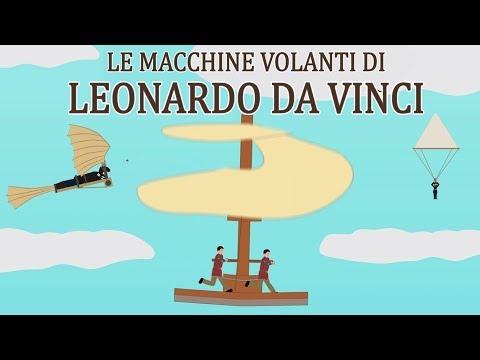 La STORIA di LEONARDO DA VINCI e delle sue macchine volanti