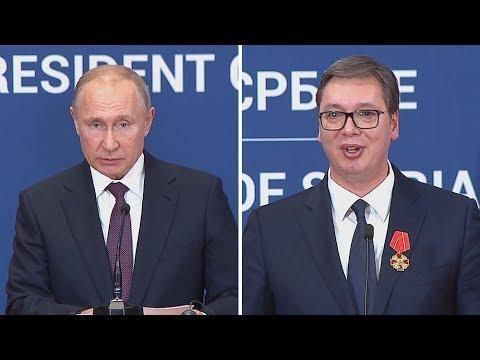 Press konferencija Vučića i Putina u Beogradu