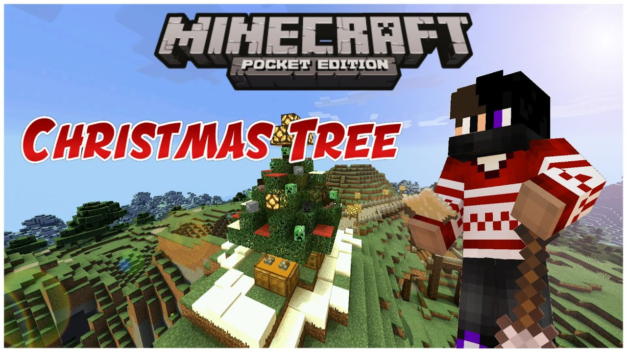 how to make a christmas tree in minecraft pe
