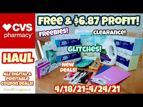 CVS Haul 4/18/21-4/24/21! Glitches! Freebies! Clearance! All Digital and Printable Coupon Deals!