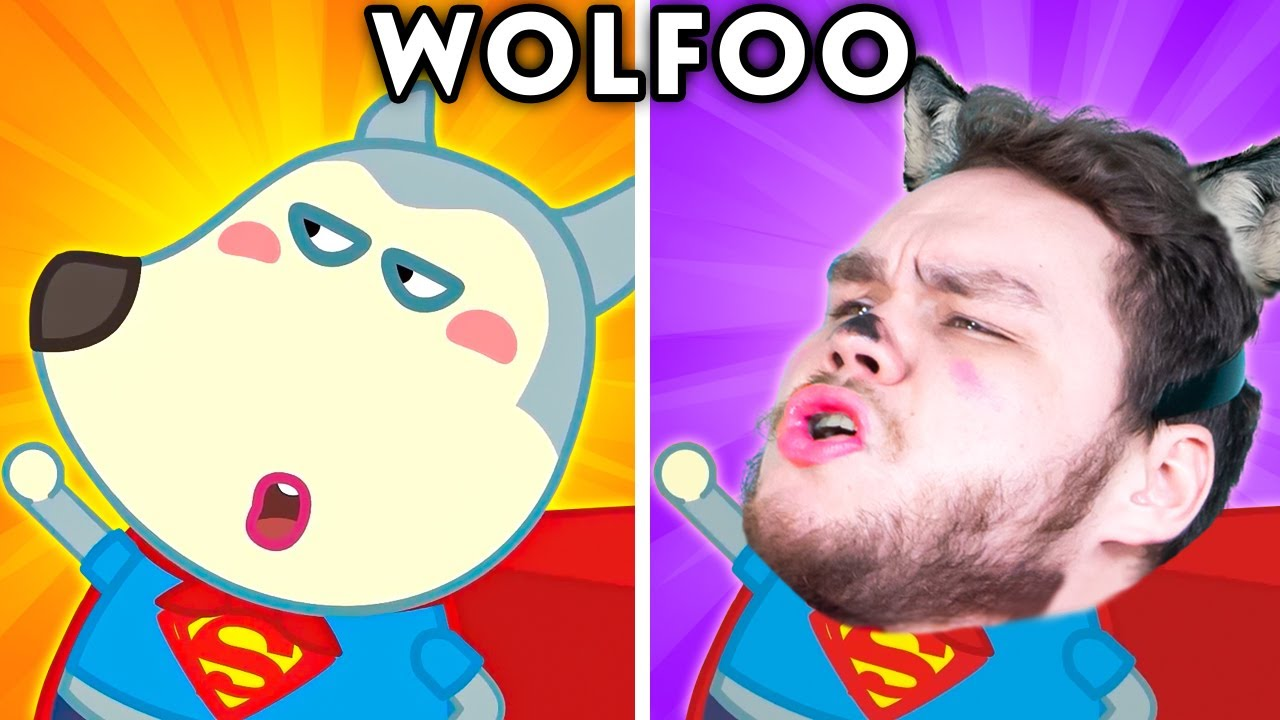 Download WOLFOO WITH ZERO BUDGET! - WOLFOO AND FRIENDS IN REAL LIFE   Funny Cartoon Parodies
