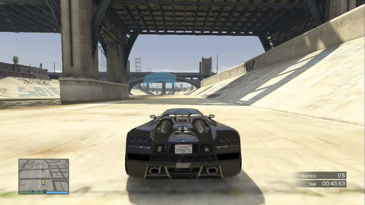 GTA V Online Racing How To Turbo Boost At The Start And Win, Mario Style!