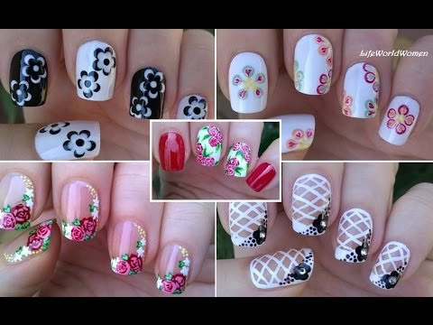 Nail art compilation 3 floral nails lifeworldwomen youtube nail art compilation 3 floral nails lifeworldwomen sciox Image collections