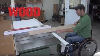 Wheelchair-accessible Woodworking Shop