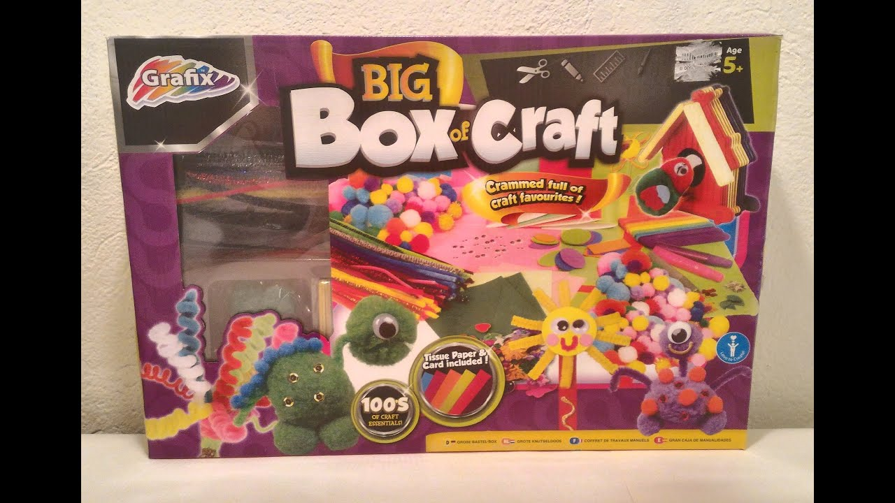 Grafix Big Box Of Craft Unboxing And Review Youtube