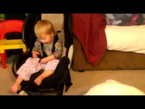 toddler-training-her-siberian-husky