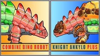 Dino Robot Knight Ankylo Plus