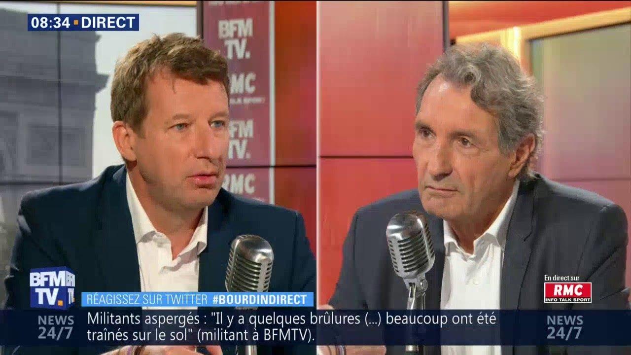 Yannick Jadot était face à Jean-Jacques Bouridn sur RMC et BFMTV