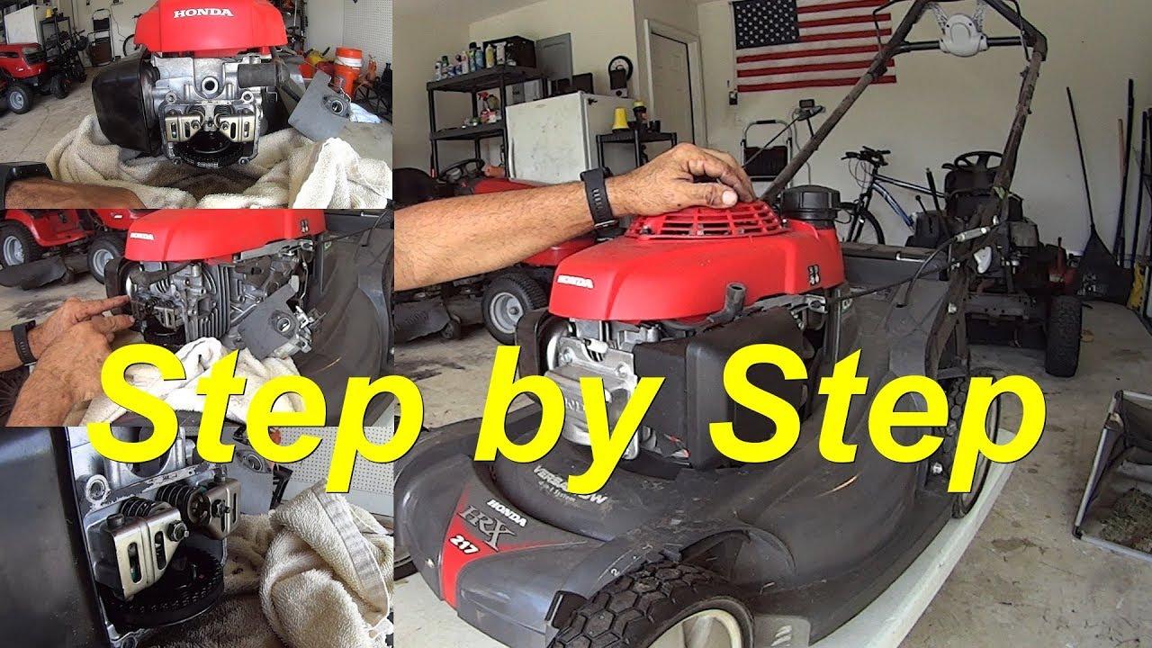 check  adjust valve clearance honda gcv  hrx lawn mower youtube
