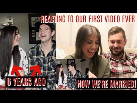 REACTING TO OUR FIRST EVER YOUTUBE VIDEO FROM 6 YEARS AGO: NOW WE'RE MARRIED!