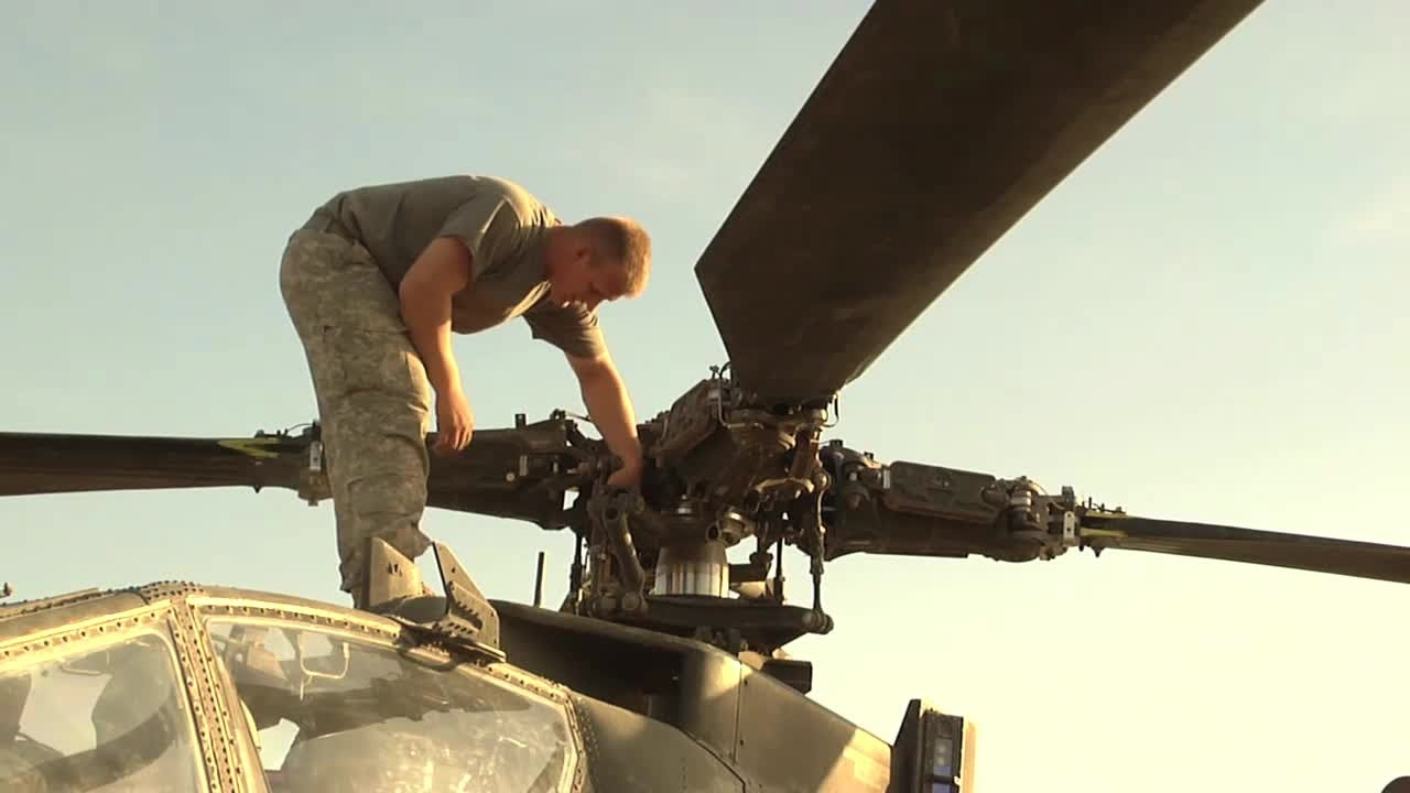 U.S. Army AH-64 Apache Helicopter Mechanic in Afghanistan - YouTube
