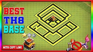 BEST TH8 FARMING BASE REPLAYS CoC Town Hall 8 Defense Base Clash of Clans
