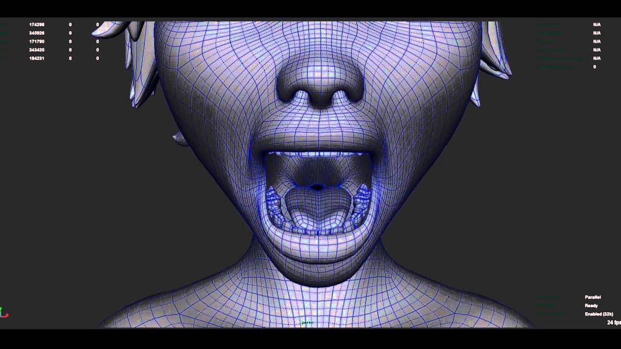 mouth rig test maya