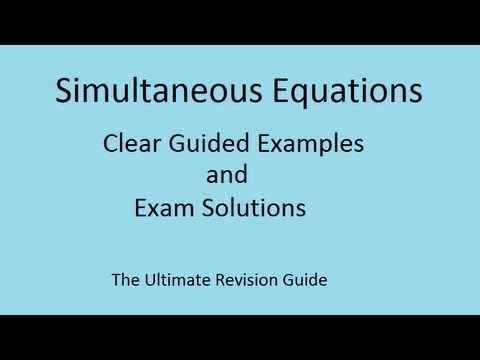 Quadratic Simultaneous equations - GCSE grade 8 and AS Maths ...