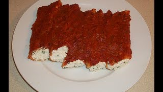 Easy Vegan Recipe: Tofu Stuffed Manicotti