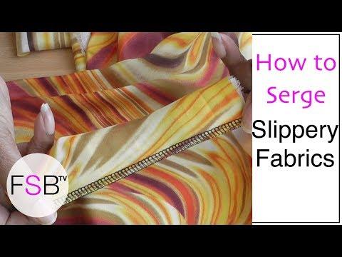 Serging Chiffon and Other Slippery Fabrics