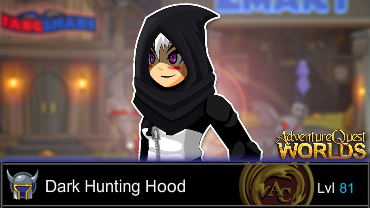 How to get DARK HUNTING HOOD AQW AdventureQuest Worlds