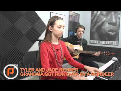 grandma got run over by a reindeer piano and guitar cover by jade and tyler rehrer