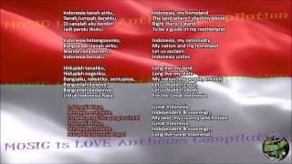 Indonesia National Anthem with music, vocal and lyrics Indonesian w/English Translation