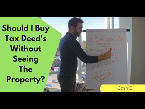 Should I Buy Tax  Deeds Without Travelling?
