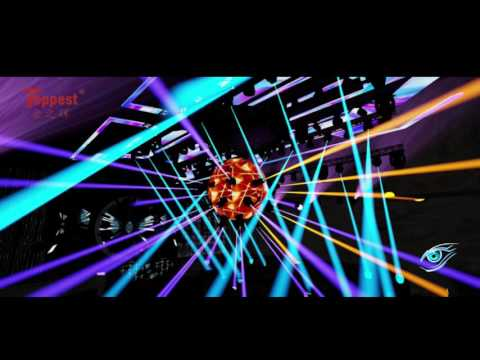 2016 Simulative lighting show of club, stage lighting show, moving head show