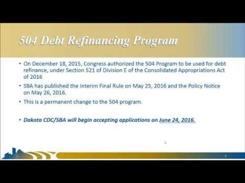 SBA 504 Debt Refinance Webinar