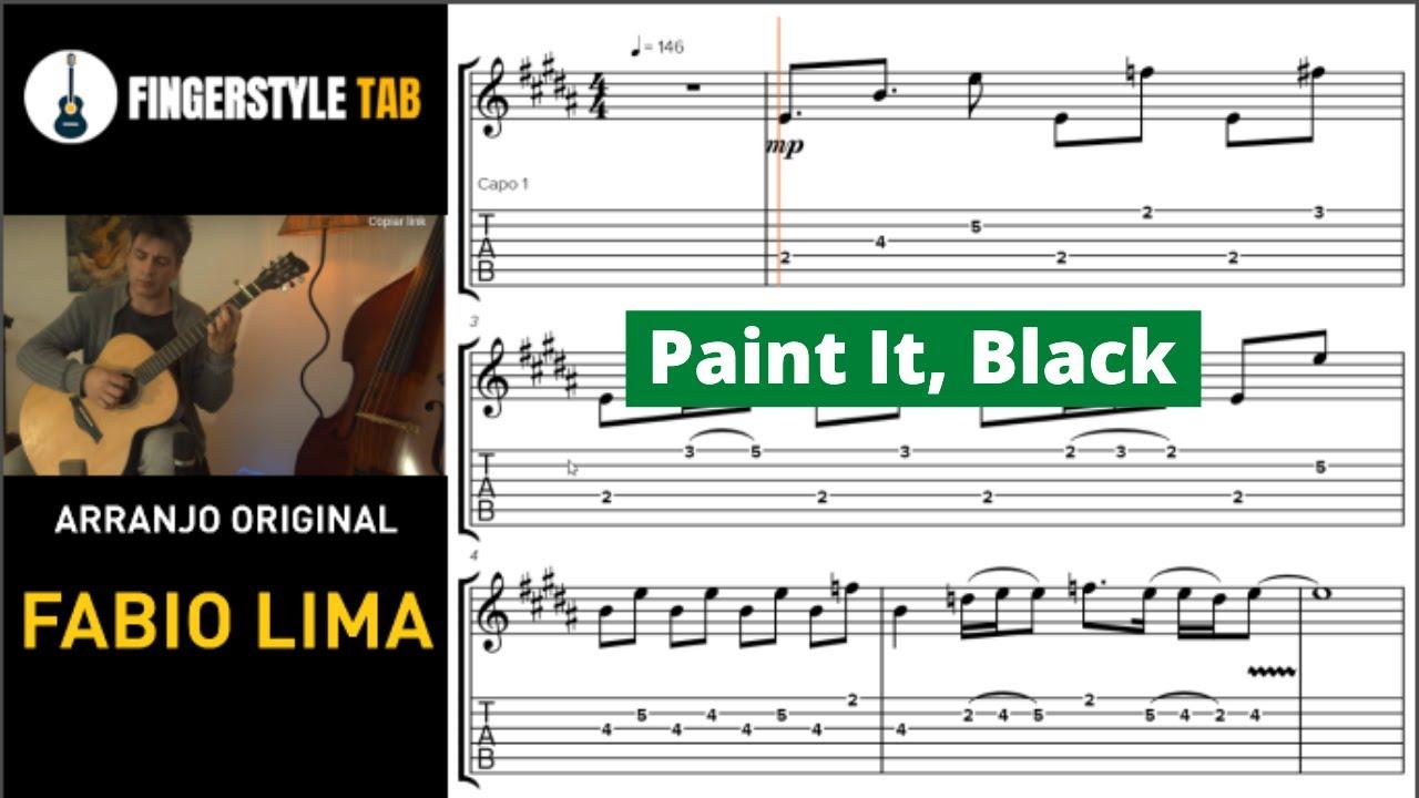 ROLLING STONES - Arranjo Violão Fingerstyle + Tablatura (Cover: Fabio Lima)