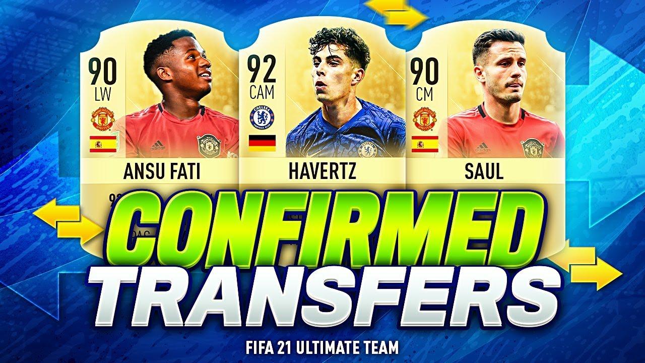 Fifa 21 New Confirmed Summer Transfers 2020 Rumours W Saul Koulibaly Havertz Ansu Fati Youtube