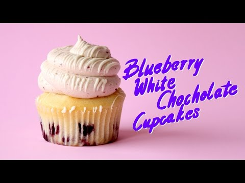 Blueberry White Chocolate Cupcakes | The Scran Line