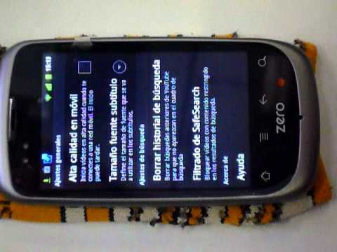 Geeksphone ZERO Gingerbread 2.3.3 (CM7RC4) Maps, youtube, musica, gmail