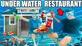 UNDERWATER Box Fort RESTAURANT CHALLENGE! 24 Hour Box Fort City Challenge Day 5
