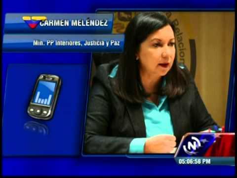 Ministra Carmen Meléndez: Detenido el PNB, presunto asesino de joven Kluiverth Roa