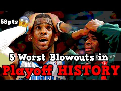 The 5 Worst Blowouts in NBA Playoff HISTORY