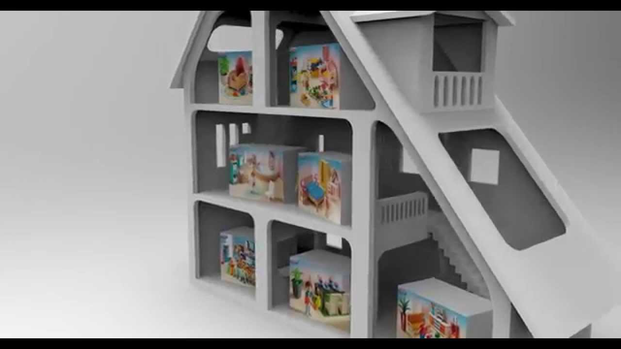 Ma maison playmobil youtube - Maison playmobil en bois ...