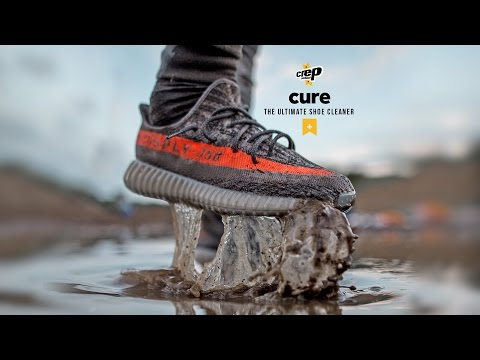 UnreleasedAdidas Yeezy Boost 350 V2 Grey/Beluga-Solar Red Extreme Clean with Crep Protect cure