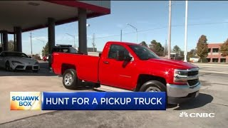 Customers pay record prices for used pickups during the pandemic