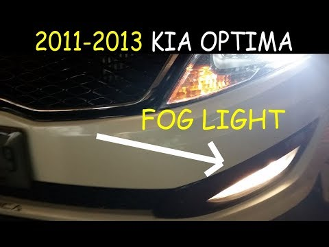 Kia Optima – Fog Light Repair – 2011-2013 – H8 Bulb Replacement