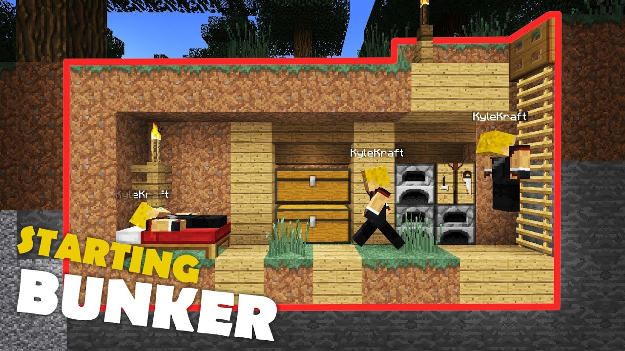 Building A Minecraft Survival Base S2 Ep 1 Starting Bunker Youtube