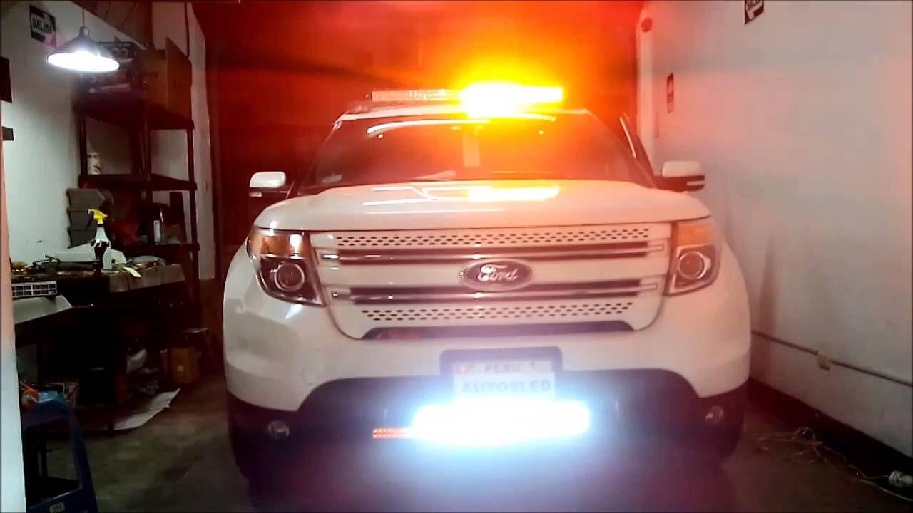 Autosled Barra Led 41 5 Quot Ford Explorer 2015 Youtube