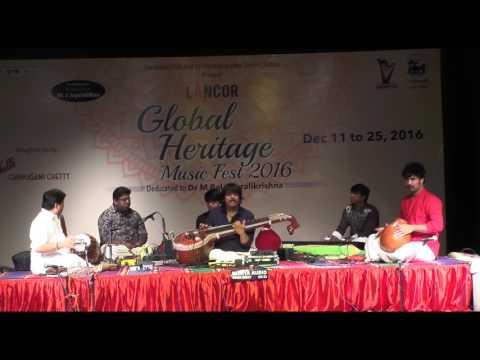 Carnatic Instruments l Rajhesh Vaidya ( Veena ) l Global Heritage Music Fest 2016 l Web Streaming