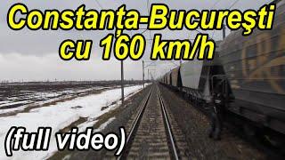 Constanta - Bucuresti 160 km/h - full rear view - gesamten Aufzeichnungs - train ride-Zugfahrt