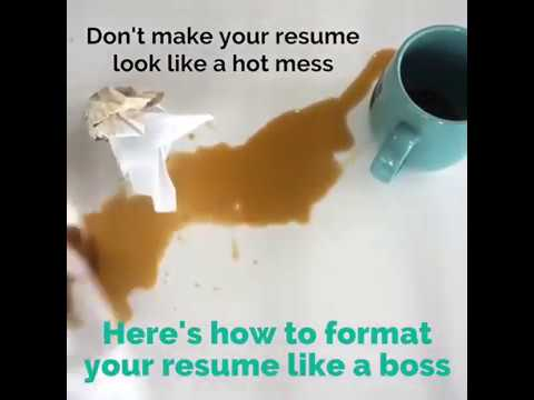 How to Format Your Resume Like a Boss - YouTube - how to format your resume