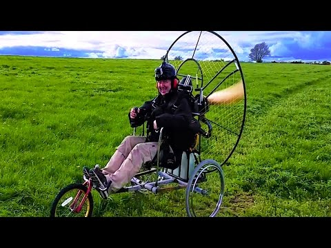 Homemade Paramotor Trike from Scrap