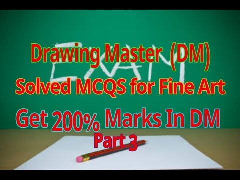 Drawing Master preparation MCQS  Dm And fine Arts