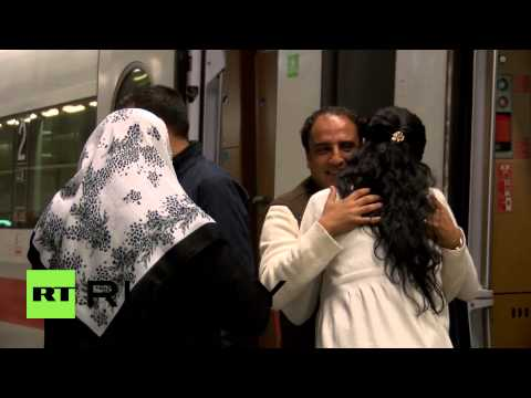 Germany: Refugee reunited with family after a long journey from Damascus