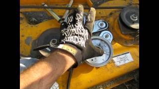 cub cadet mower belt coming off deck fix lt 1045 part 1