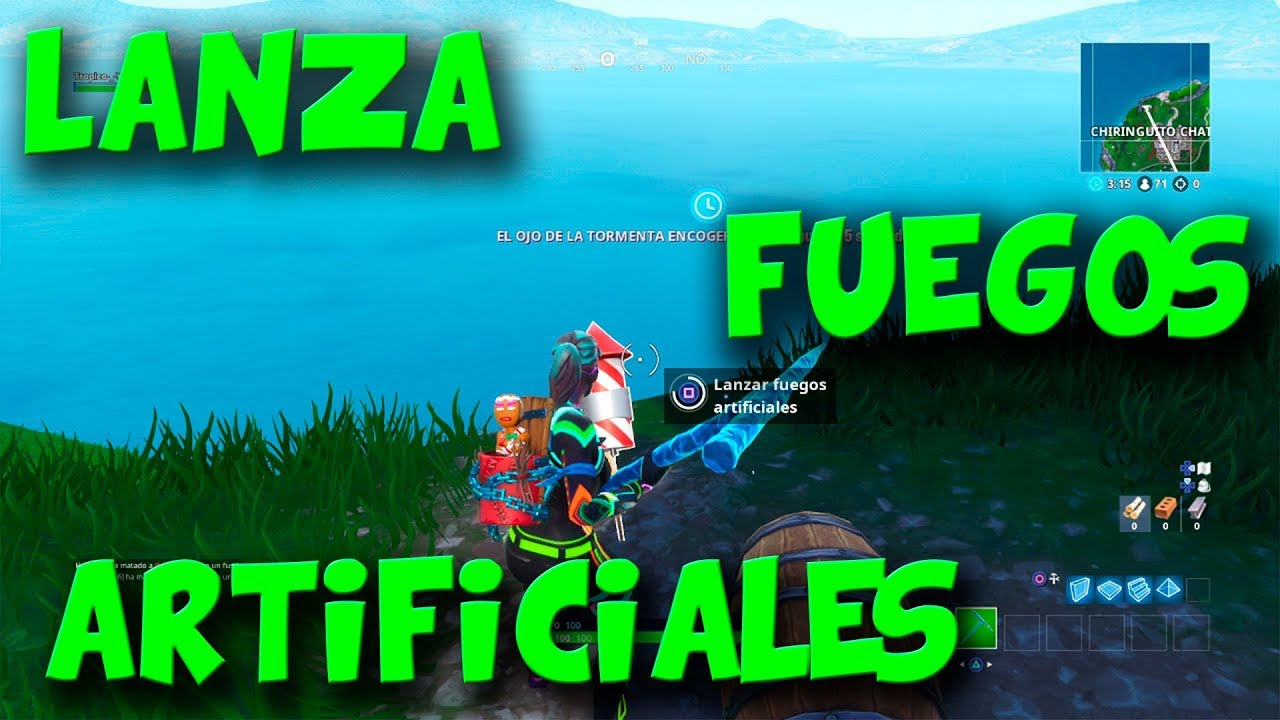 Lanza Fuegos Artificiales Semana 4 Temporada 7 Fortnite Battle