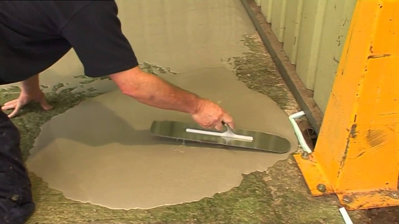 Stopgap 850 Application Of Outdoor Self Levelling Compound Youtube